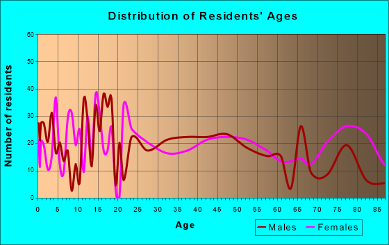 Benson, Minnesota Age and Sex of Residents