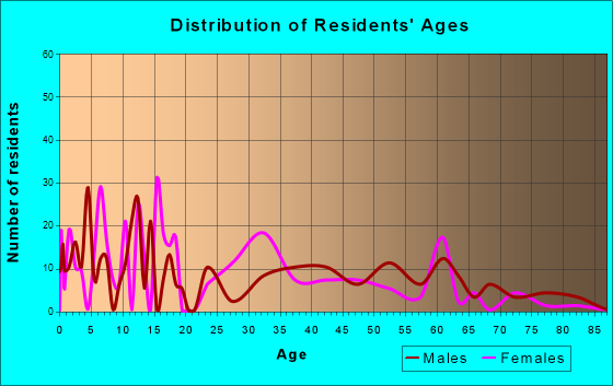 Indian Springs, Nevada Age and Sex of Residents
