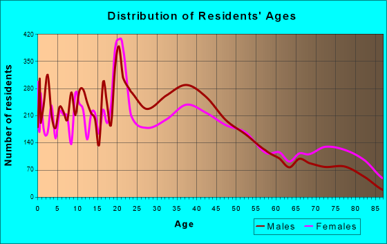 Elmira, New York Age and Sex of Residents
