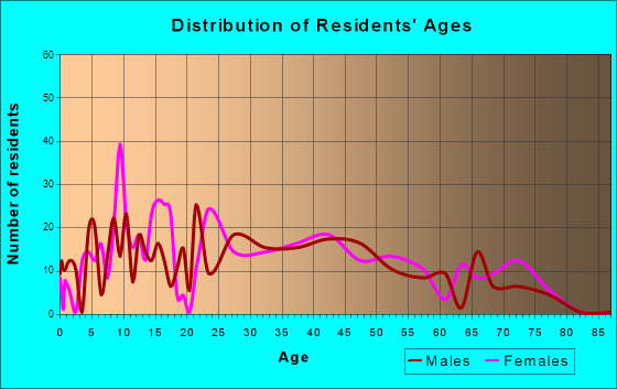 South Zanesville, Ohio Age and Sex of Residents