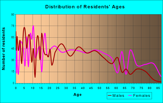 Wellston, Ohio Age and Sex of Residents