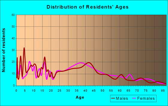 Leesport, Pennsylvania Age and Sex of Residents