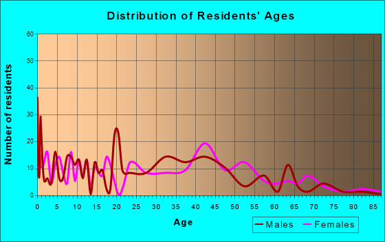 Bluffton, South Carolina Age and Sex of Residents