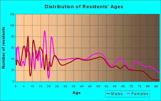 Dillon, South Carolina Age and Sex of Residents