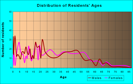 Plainview, Tennessee Age and Sex of Residents