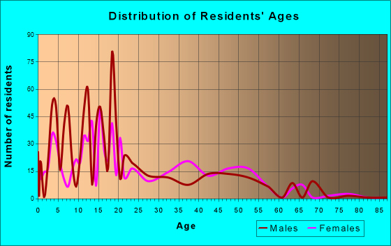 Las Lomas, Texas Age and Sex of Residents