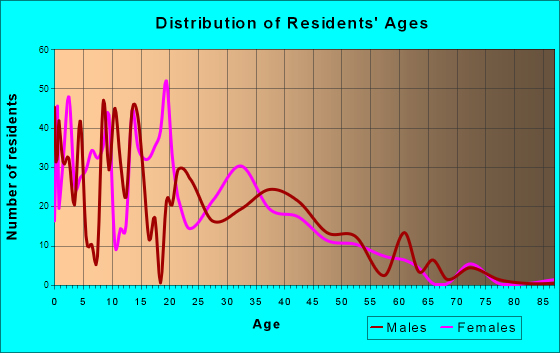 West Sharyland, Texas Age and Sex of Residents