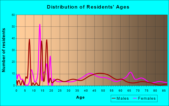Grundy, Virginia Age and Sex of Residents