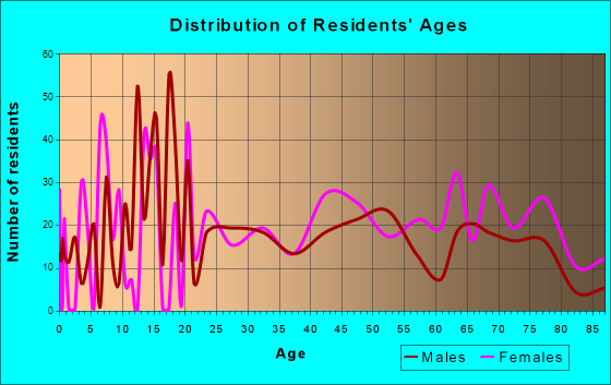 Ripley, West Virginia Age and Sex of Residents
