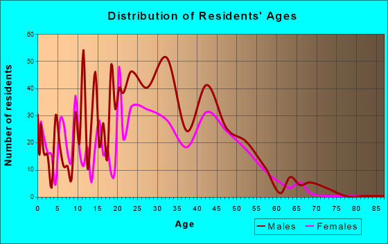 Silverthorne, Colorado Age and Sex of Residents