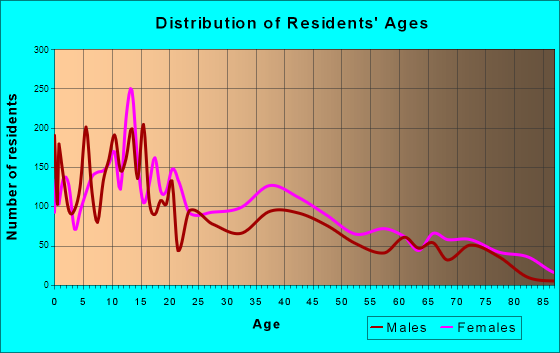 Brownsville, Florida Age and Sex of Residents