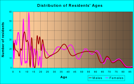 Miami Gardens, Florida Age and Sex of Residents