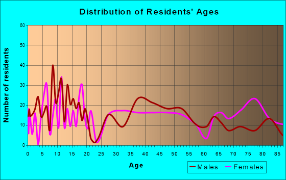 Metamora, Illinois Age and Sex of Residents