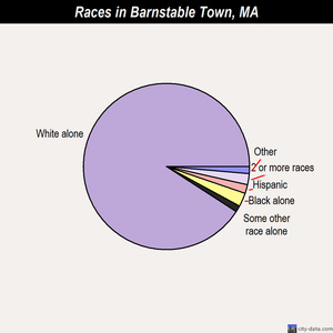 Barnstable Town races chart