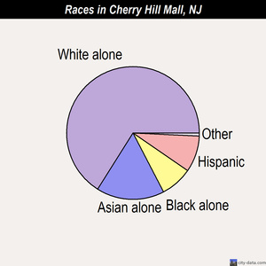 Cherry Hill Mall races chart