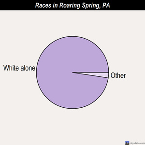 Roaring Spring races chart