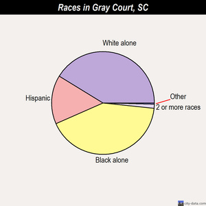 Gray Court races chart