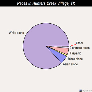 Hunters Creek Village races chart
