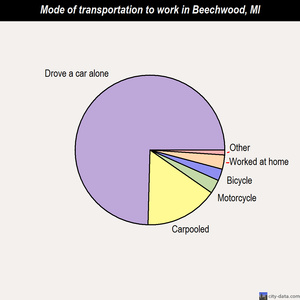 Beechwood mode of transportation to work chart