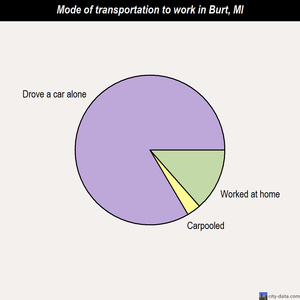 Burt mode of transportation to work chart