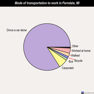 Ferndale mode of transportation to work chart