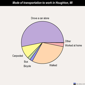 Houghton mode of transportation to work chart