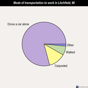 Litchfield mode of transportation to work chart