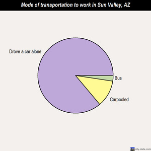Sun Valley mode of transportation to work chart