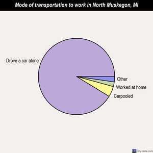 North Muskegon mode of transportation to work chart