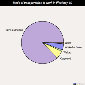 Pinckney mode of transportation to work chart