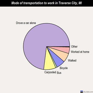 Traverse City mode of transportation to work chart