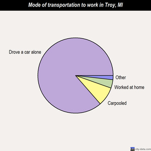Troy mode of transportation to work chart