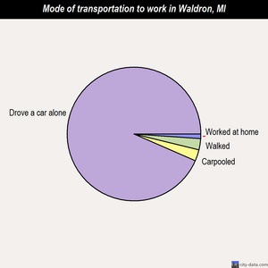 Waldron mode of transportation to work chart