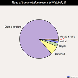 Whitehall mode of transportation to work chart