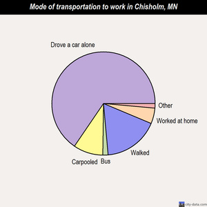 Chisholm mode of transportation to work chart