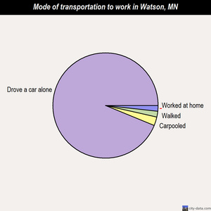 Watson mode of transportation to work chart