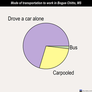 Bogue Chitto mode of transportation to work chart
