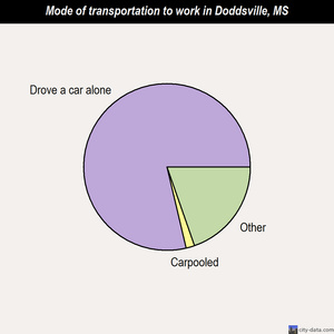 Doddsville mode of transportation to work chart
