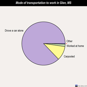 Glen mode of transportation to work chart