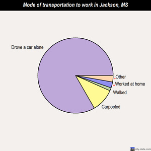 Jackson mode of transportation to work chart