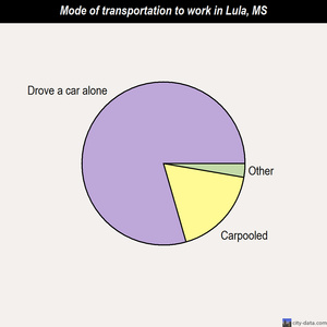 Lula mode of transportation to work chart