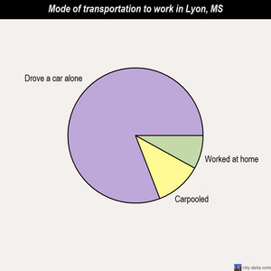 Lyon mode of transportation to work chart