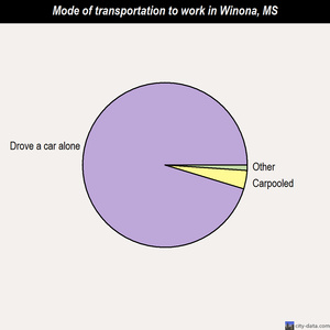 Winona mode of transportation to work chart