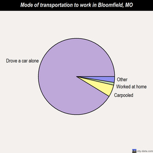 Bloomfield mode of transportation to work chart
