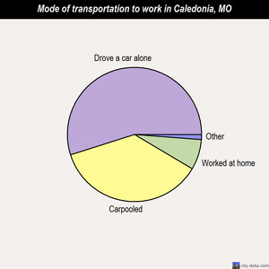 Caledonia mode of transportation to work chart