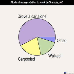 Chamois mode of transportation to work chart