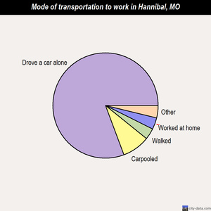 Hannibal mode of transportation to work chart