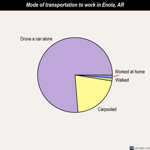 Enola mode of transportation to work chart