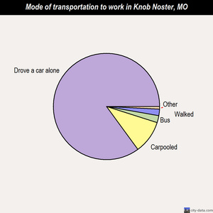 Knob Noster mode of transportation to work chart