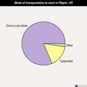 Flippin mode of transportation to work chart